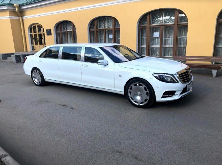 Mercedes S500 Pullman белого цвета